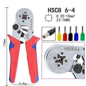 Alicate crimpador de terminal de fio 0.25 a 10.0mm HSC8