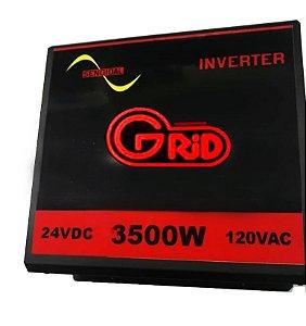 Inversor 3500w / 7000w 24v 120v Onda Senoidal Pura toroidal Grid 100% Nacional