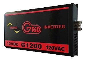 Inversor 1200w / 2400w 12v 120v Onda Senoidal Pura Grid 100% Nacional