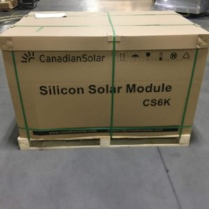 Pallet 30 painel solar fotovoltaica 445w Canadian Monocristalino