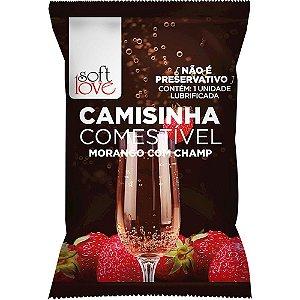 CAMISINHA COMESTÍVEL MORANGO C/CHAMPANHE