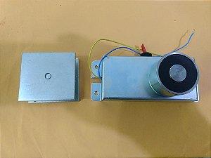 Eletroímã Para Porta Corta Fogo 24vdc Com Botão Liga/desliga