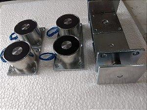 Eletroímã Permanente p/ porta corta fogo 24v - ñ consome energia