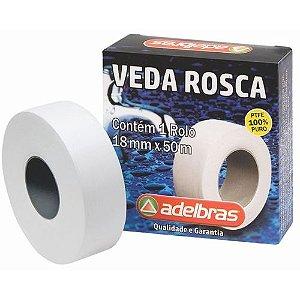 Fita Veda Rosca Para Canos 18mm x 50 Metros Adelbras