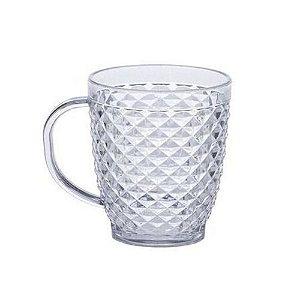 Caneca de Plástico Cristalino Para Chás e Café Luxxor 400 ML