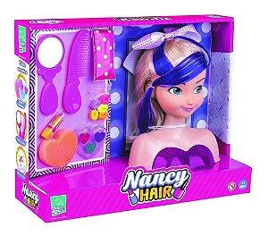 Boneca Nancy Hair Busto Para Pentear E Maquiar 465 Super Toys