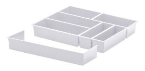 Organizador Talheres C/ Extensor Branco 40x33x6,5 Paramount