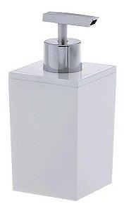 Dispenser Porta Sabonete Líquido Quadratta Branco
