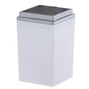 Dispenser Porta Escova Branco Quadratta Bagno 1556 Paramount