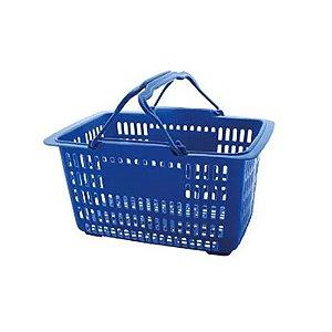 Cesta Pratica Supermercado 43x31x24cm Azul Ref 226 Paramount