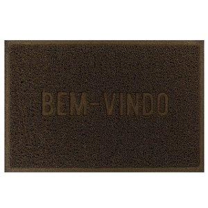 Tapete Bem Vindo Marrom 35x55cm 24466 Millenium