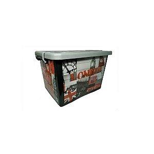 Container Organizador Multiuso 30Lts Tampa e Rodas 25241 Arqplast