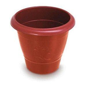 Vaso de Plantas Redondo Médio 30x28 Vermelho 25290 Arqplast