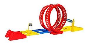 Brinquedo Pista de Corrida Looping Desafio Duplo Samba Toys