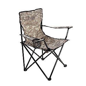Cadeira Pesca Araguaia Porta Copo Camuflada Dobrável Confort 16900 Belfix