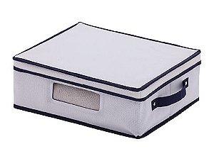 Cesto Organizador em Linho Com Visor 38x32x14cm 1280 Paramount
