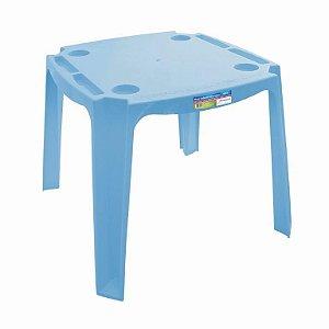 Mesa Mesinha Infantil Didática Educativa Plástico Azul