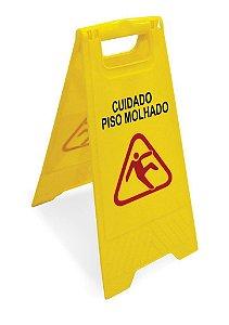 "Placa Sinalizadora ""Piso Molhado"" 25654 Arqplast"