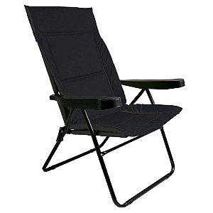 Cadeira Alfa 4 Posições Com Suporte Para Copo Preta MOR
