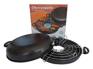 Churrasquita Antiaderente - Churrasqueira para Fogão - Dona Chefa