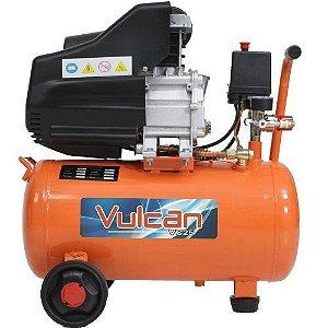 Compressor de Ar C/ 2 saidas 25 L 2,5 HP 220v Vulcan