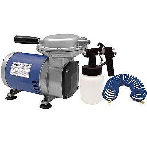 Compressor De Ar Direto Bivolt + Kit C/ Pistola E Mangueira