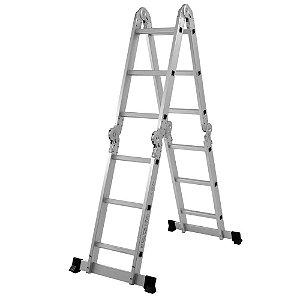Escada MultiFuncional em Aluminio 16 Degraus 4X4 MOR