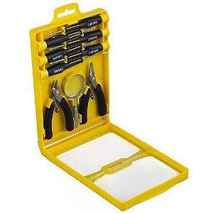 Kit de Precisão para Eletrônica Fenda,Philips,Alicate BLACK JACK