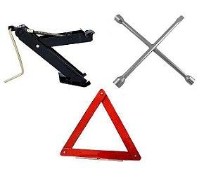 Kit Estepe Para Veículos - Macaco + Triangulo + Chave Roda