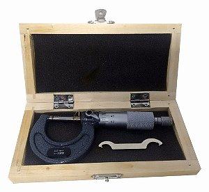 Micrômetro Externo De 0 Á 25mm C/ Estojo - Leitura De 0,01mm 1ZT EDA