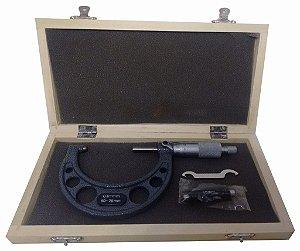 Micrômetro Externo Profissional 50-75mm C/ Estojo 1ZX EDA