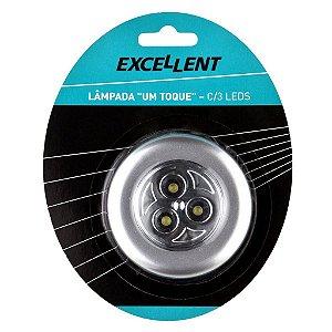 Mini Lanterna/ Lâmpada Auto Adesiva 1 Toque C/3 Leds Eda 9dn