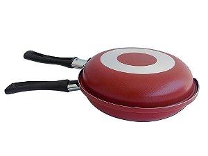 Omeleteira de Aluminio 18 Vermelha 0.070 - Dona Chefa