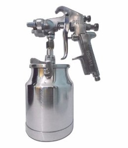 Pistola Pintura Sucção Caneca 600ml Bico 1,6mm Alta Produção