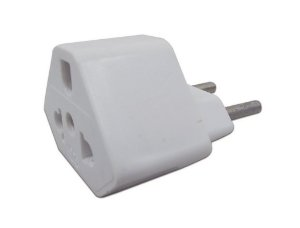 Plug Adaptador de Tomada Branco 20A Universal