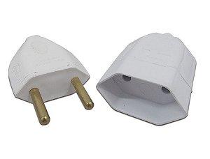 Plug Macho/Fêmea para Tomadas 2 Pontas 10A 250V