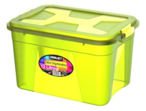 Caixa Organizadora Multiuso 12 Litros Verde Uninjet