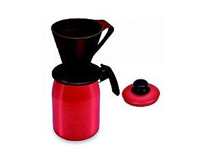 Bule 1,5 Litros Vermelho C/Porta Filtro 0.200 Dona Chefa
