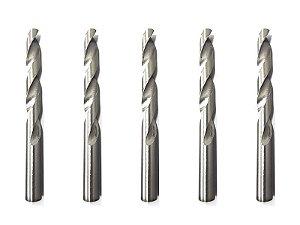 Kit 5 Brocas P/ Metal, Cilíndrica,15/32 Pol. 12 Mm, Polida 720209 Mtx