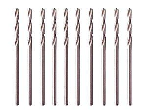 Kit 10 Brocas Aço Rápido Hss P/ Metal 1,0 Mm, Polida 715109 Mtx