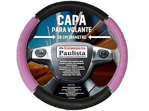 Capa Protetora P/ Volante 38cm Rosa/Preto CP-207  Est. Paulista