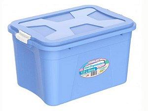 Caixa Organizadora Azul12 Litros c/ Travas PP Uninjet