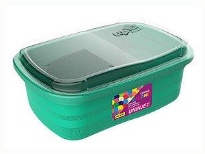 Pote P/ Freezer / Microondas 330 ml PP Verde Uninjet