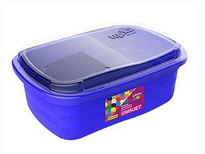 Pote P/ Freezer / Microondas 330 ml PP Azul Uninjet