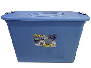 Caixa Organizadora 30 Litros Multiuso Azul Agraplast