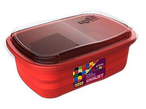 Pote P/ Freezer / Microondas 330 ml PP Vermelho Uninjet