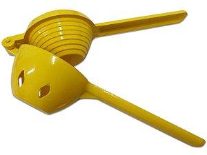 Espremedor de Laranja Alumínio 23x7cm Amarelo Cozinha Color