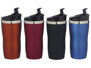 Copo Aço Inox 450ml 19x9cm Coffee To Go Colors Mor