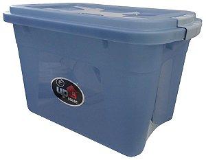 Caixa Organizadora 30 Litros Transparente/Azul UP House 0768 Uninjet