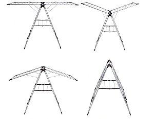 Varal de Chão em Aço C/ Abas Resistente MASTER Mor
